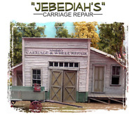 Bar Mills Scale Model Jebediah's Carriage & Wheel Repair O Scale Scenery Diorama