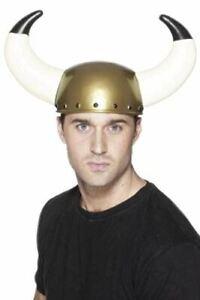 Adult Viking Helmet Large Horns Barbarian Norseman Fancy Dress Party Accessory