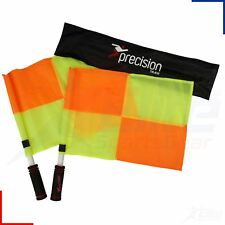 Precision Training Football Linesman's Referee Chequered Flag Set