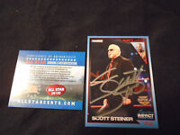 SCOTT STEINER IMPACT WRESTLING CARD AUTOGRAPH ALL STAR AUTHENTICATED