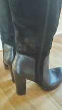 Nine West Knee High Boots Suede Leather Black Sz 9.5 M