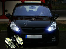 VAUXHALL CORSA D VXR 06-14 2x T10 9SMD LED WHITE BULBS SIDELIGHTS  FREE ERROR