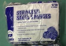12 Royal S730 Stainless Steel Sponges, One Package  of 12 - New