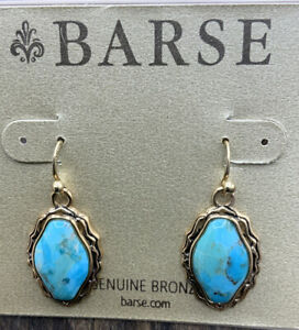 Barse Rodeo Earrings-Turquoise & Bronze- NWT