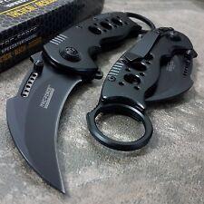 Tac Force Spring Assisted Karambit Tactical Black Open Folding Pocket Knife New