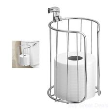 Vertical Toilet Paper Holder Over Tank Roll Storage Bathroom Tissue Chrome Stand