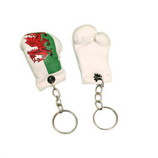 Mini Boxing Gloves Team Wales Flag Key Ring Fob Chain Country Minature Welsh