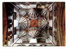 Canterbury Cathedral Postcard Kent England Central Tower Interior Roof Ceiling