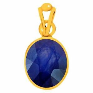 Natürlich Zertifiziert Handgemacht 10 Karat Blauer Saphir 14K Gold Medaillon Für