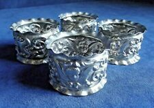 SUPERB Set of 4 ~  ANGLES / Cherubs ~ SILVER Plated ~ NAPKIN RINGS ~ c1890