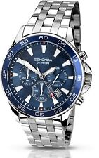 Sekonda Men's Chronograph Watch Blue Dial Stainless Steel Bracelet 1058