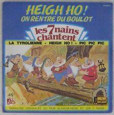 Les 7 Nains Chantent 45 tours Walt Disney 1983