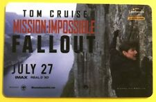 Tom Cruise MISSION: IMPOSSIBLE - FALLOUT collectors gift card