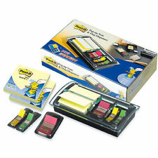 Post-it Pop up Note Flag Dispenser 3 x 3 Canary Notes Assorted Flags Combo Pack