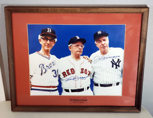 Joe & Dom DiMaggio Brothers Signed Autographed Photo with COA - Framed