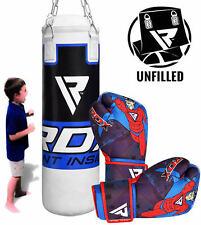 RDX Punching Bag Boxing Gloves Set Training kids MMA Kick Swivel Chain Unfilled