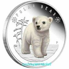 Australia Tuvalu 2017 Polar Babies Polar Bear 1/2oz Silver Proof Coin Perth Mint