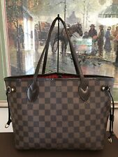 ❤LV❤Louis Vuitton❤Neverfull PM❤Ebene Damier Shoulder Tote Handbag Purse