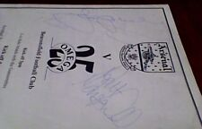 ARSENAL FC CHARITY FOOTBALL PROGRAMME 1994 TONY HADLEY SIGNED Spandau Ballet