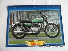 CARTE FICHE MOTO YAMAHA XS-1 1970