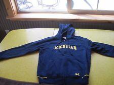 L(12-14) HOODIE NIKE MICHIGAN BLUE ZIPPER TEAM UNUSED GOLD HOODED SWEATSHIRT
