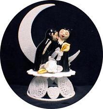 VAMPIRE Darcula Transylvanis Halloween Wedding Cake topper funny Groom top bride
