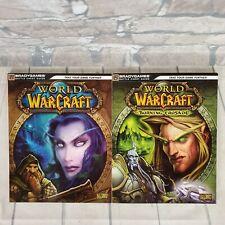 World of Warcraft Strategy Guides Set of 2 Manuals Burning Crusades Gaming Gamer