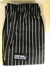 Chef Wear 3950 Women Lo Rise Pant Black White Stripe Cook Restaurant Size 4X