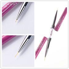1Pc Nail Art Pen Dotting Drawing Painting Metal Gel Liner Polish Brush Accessory