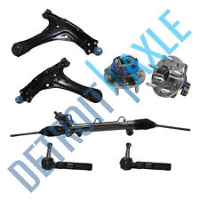 Rack and Pinion + Tie Rods + Control Arms w/ Ball Joints + Wheel Hub Bearings