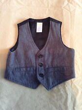 Pre-Owned Gymboree Boy's Gray/Black Vest, Size 12-24 Months