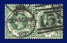 More details for 1887 sg211 1s dull green k40(1) pair fine glasgow 159 cds jy 10 90 cv £160 cblt