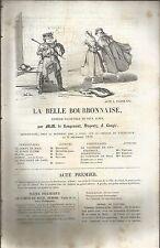 LIBRETTO_LA BELLE BOURBONNAISE_COMEDIE - VAUDEVILLE EN DEUX ACTES_1839_LANGLE'