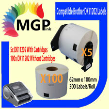 100+5 Roll Compatible DK-11202 BROTHER Large shipping Labels – 62mm X 100mm