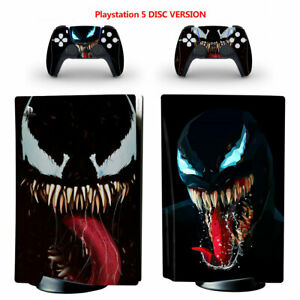 Venom Vinyl Skin Decal Sticker Protective Cover for PS5 Disc Console Controllers