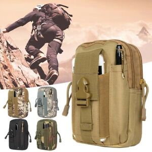 Tactical Molle Pouch Compact EDC Utility Gadget Belt Waist Bag Pack For Camping