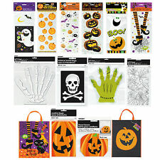 HALLOWEEN Cello Cellophane Gift BAGS Trick Or Treat Party Candy Sweet Fun Sacks