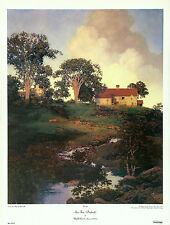 MAXFIELD PARRISH 1986 Large Version OOP Collograph HUNT FARM (DAYBREAK) AA INC