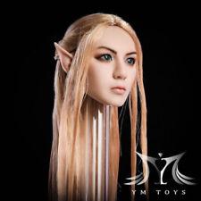 """YMTOYS 1/6 Female Head YMT09A Pale Spirit W/Detachable Ear F 12"""" Figure Body Toy"""