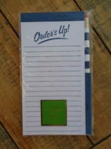 Kate Spade 'Orders Up' Fridge Notepad Shopping List Pad Magnetic