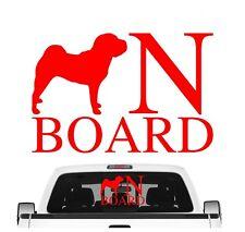Shar Pei On Board Auto Aufkleber Hund Folie Faltenhund Chinese