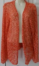Womens Cardigan Sweater Shrug COLDWATER CREEK 1X Oranges Colorful