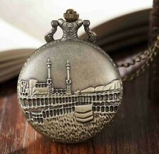 Vintage Carved Pair Design Quartz  Pocket Watch Men Pendant Chain For Women