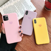 For iPhone 11 Pro Max XS MAX XR X Matte Candy Heart Soft Silicone Gel Case Cover