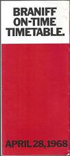 Braniff International Airways system timetable 4/28/68 [9051]
