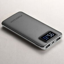 AU Ultrathin 50000mah LCD Power Bank External 2usb Battery Charger for Iphone7 8 Grey