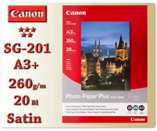 Canon Fotopapier SG-201 Plus Seidenglanz Foto Papier 20 Blätter Photo Paper A3+