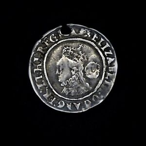 Hammered Tudor Period Elizabeth I Silver Sixpence, 1566