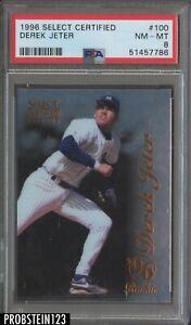 1996 Select Certified #100 Derek Jeter Yankees RC Rookie HOF PSA 8 NM-MT