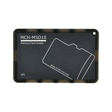 10 Micro SD Holder Memory Card Protective Storage Case Write/Label Grey